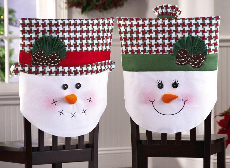 Ideas para decoracion de sillas para navidad elegantes y - Adornos navidenos para sillas ...