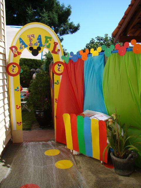 Decoraciones mickey mouse decoracion de interiores - Fiesta cumpleanos infantil en casa ...