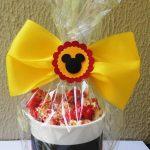 dulceros para cumpleaños con el tema de mickey mouse