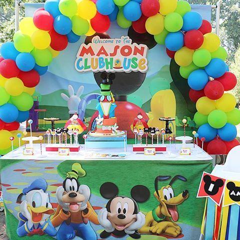 ideas para 1 añito varon fiesta mickey mouse