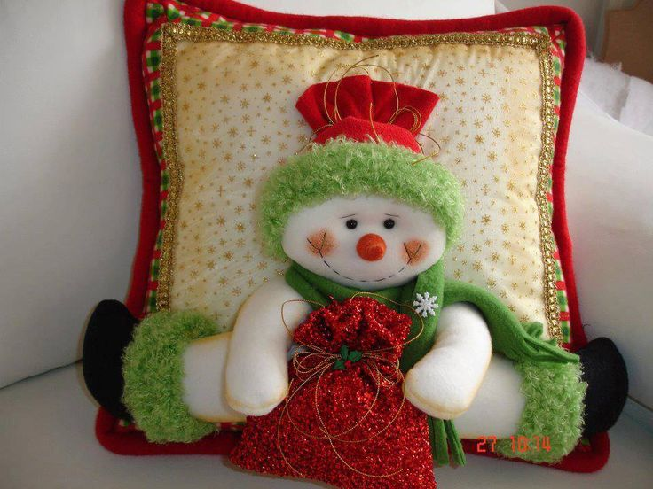 Ideas para decoracion con monos de nieve de fieltro 33 - Ideas para arreglos navidenos ...