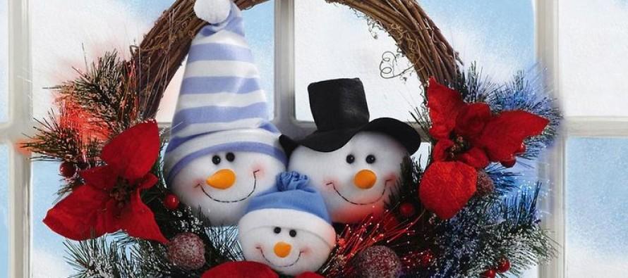 Ideas para Decoracion con Monos de Nieve de Fieltro