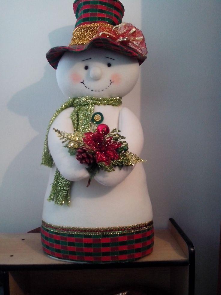 Agradable Imagenes De Muebles Para Bano #3: Ideas-para-decoracion-con-monos-de-nieve-de-fieltro-36.jpg