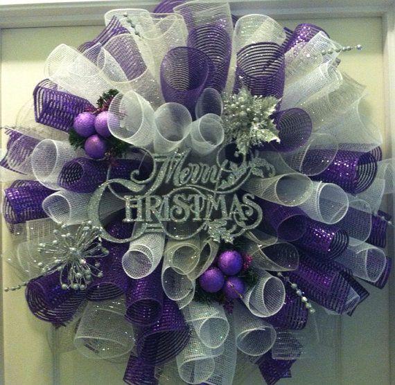 Ideas Para Decoracion De Navidad Plata Con Morado 10
