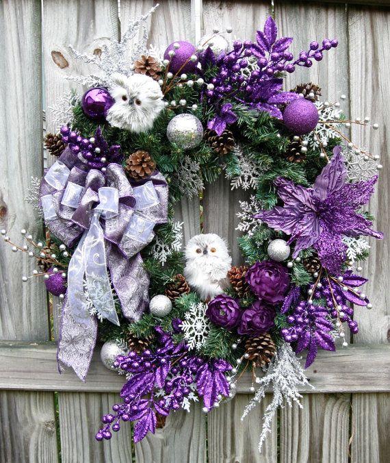 Ideas para decoracion de navidad plata con morado 12 - Decoracion de habitaciones en navidad ...