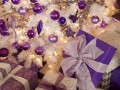 Ideas para Decoracion de Navidad Plata con Morado
