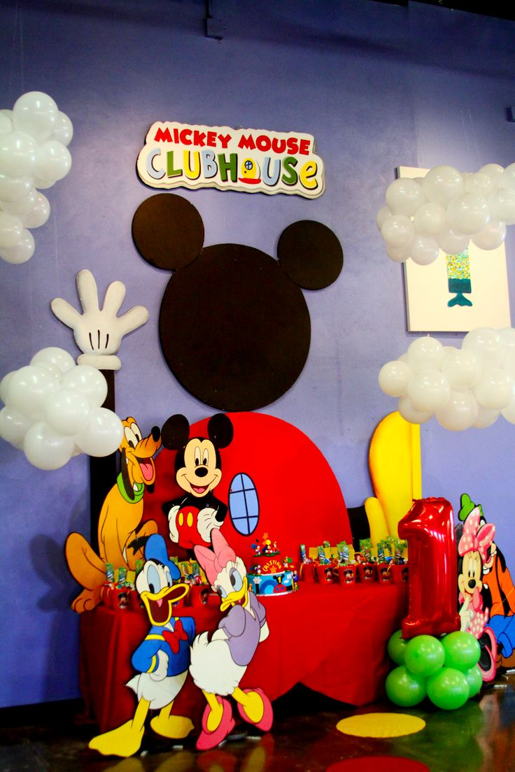 Ideas para fiesta cumpleanos de mickey mouse 25 for Mesa de cumpleanos de mickey