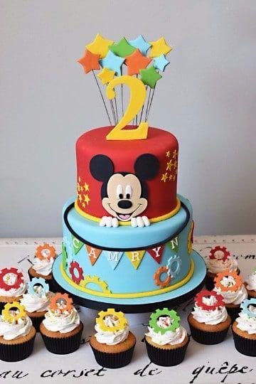 imagen del pastel de mickey mouse