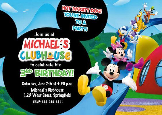 invitaciones de mickey mouse 3 años