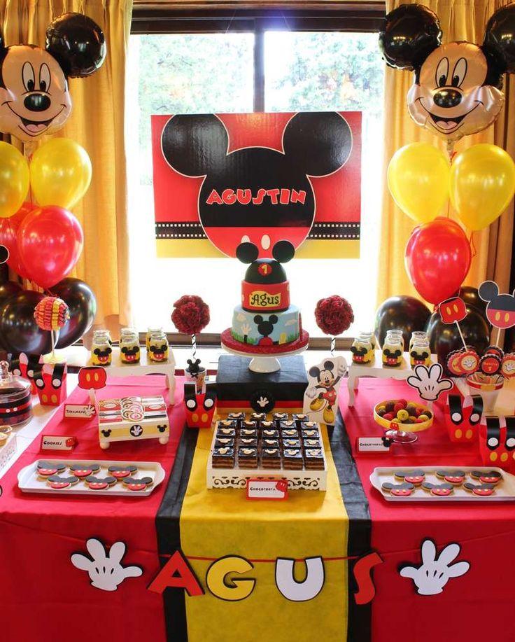 Mickey Mouse Decoracion Mesa ~ Ideas para Fiesta Cumplea?os pi?ata de Mickey Mouse  Curso de