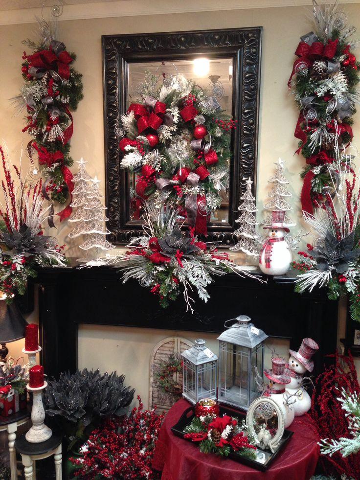 Modernos adornos centro mesa de navidad 2015 2016 2 for Arreglo para puertas de navidad