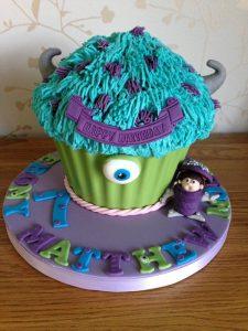 pastel para fiesta de monster inc