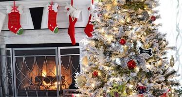 Decoracion de Pinos de Navidad Nevados