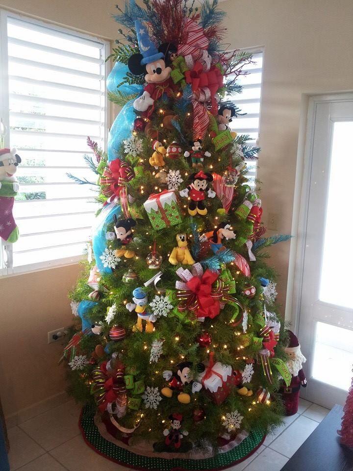 Pinos navidad mickey mouse decoracion de interiores - Imagenes de arboles navidad decorados ...
