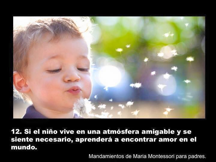 Mandamientos montessori para crianza con Amor Empatia y Respeto