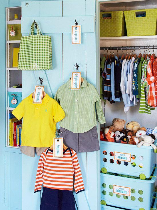 Como organizar un closet para ni o como organizar la - Organizar habitacion ninos ...