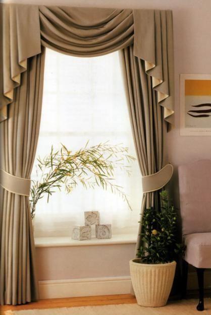 cortinas para sala (10)   Decoracion de interiores Fachadas para