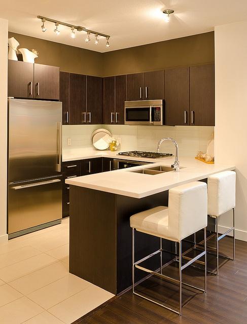 decoracion de cocinas para casas departamentos pequenas 22