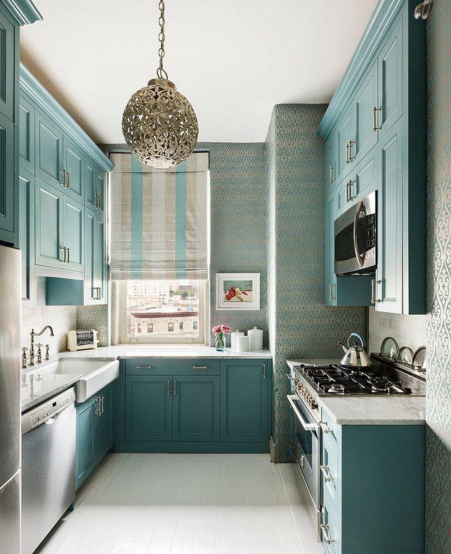 Wallpaper For Kitchen India: Decoracion-de-cocinas-para-casas-departamentos-pequenas