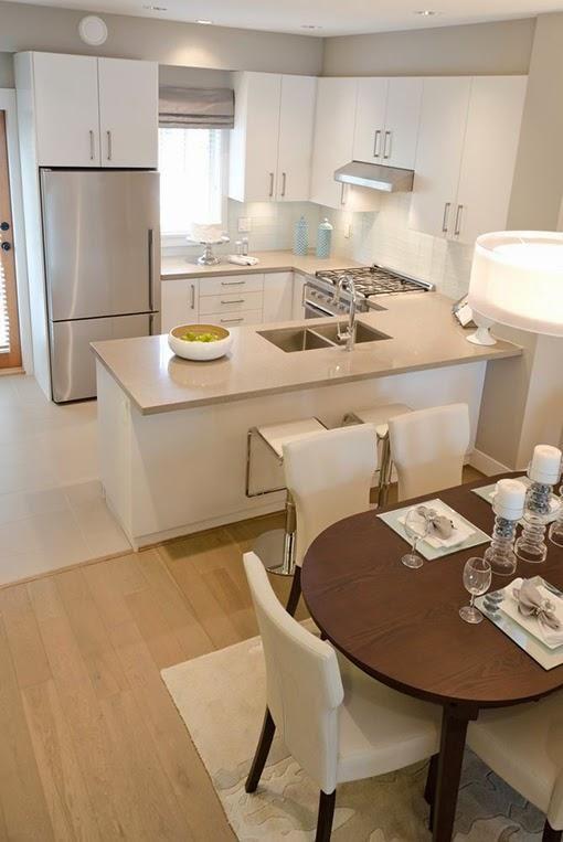 Decoración de cocinas modernas, pequeñas, grandes, con isla y barra