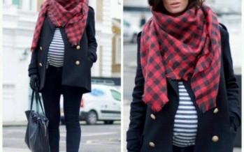 Ideas atuendo embarazadas en invierno