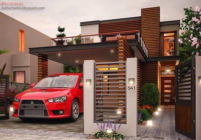 Ideas para fachadas de casas 14 - Decoracion fachadas exteriores ...