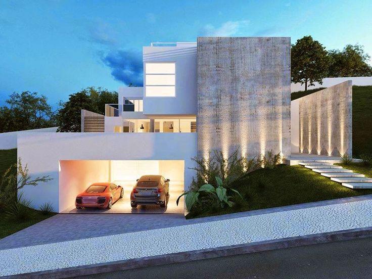 Ideas para fachadas de casas 25 decoracion de for Ideas para frentes de casas