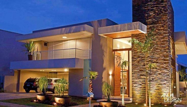 Ideas para fachadas de casas 40 decoracion de - Ideas para fachadas de casas ...