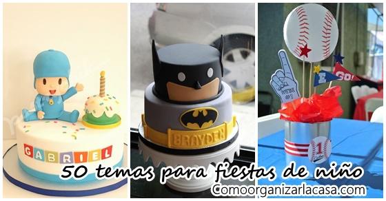50 temas para fiestas para ni o decoracion de interiores for Decoracion cumpleanos nino 2 anos
