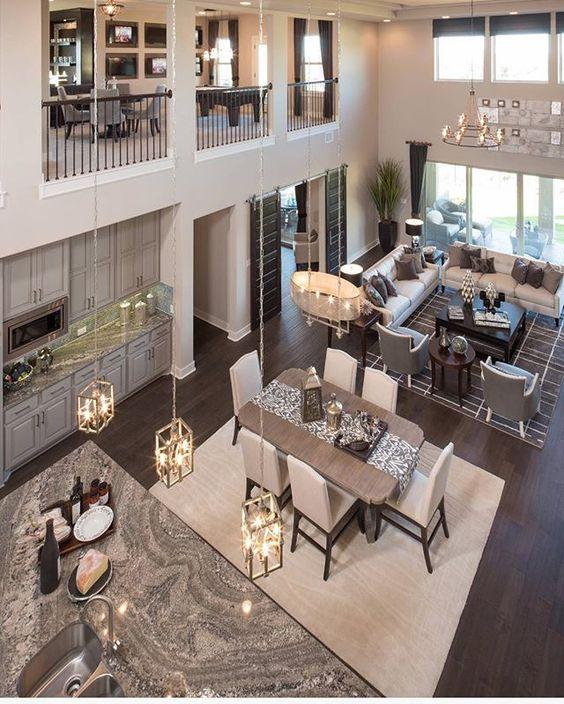 42 Open Concept Kitchen Living Room And Dining Room Floor: Decoracion De Comedor Y Sala Juntos En Espacio Pequeño