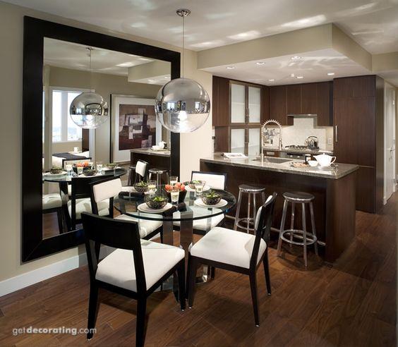 Decoracion de comedor en living de concepto abierto 1 for Decoracion salas comedores modernos pequenos
