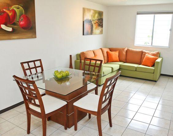 Decoracion de comedor y sala juntos en espacio peque o - Colores para comedores pequenos ...
