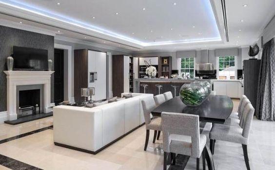 Decoracion de comedor y sala juntos en espacio peque o for Casa con cocina y comedor juntos