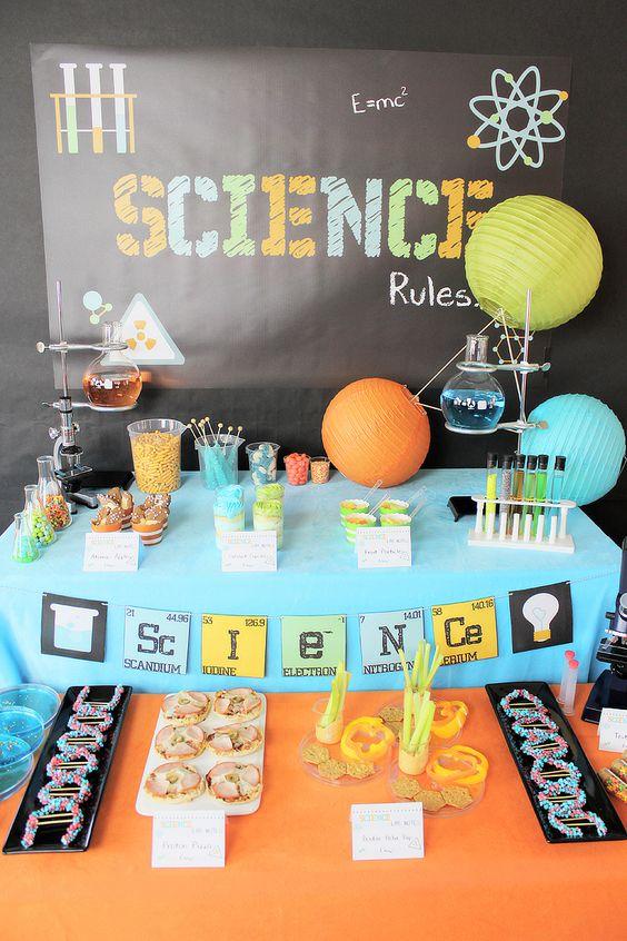 Ideas para fiesta infantil de ciencia 1 decoracion de - Ideas para fiestas infantiles en casa ...
