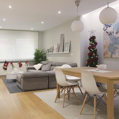 decoracion de comedor y sala juntos en espacio peque o