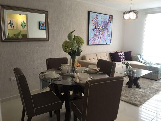 Como decorar una sala y comedor decoracion de interiores for Como organizar living comedor