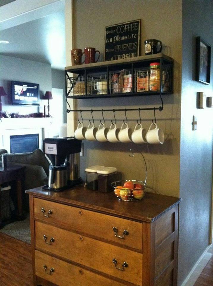 como hacer un coffee bar en casa (16) | Decoracion de interiores ...