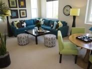Decoración y de comedor y sala juntos en espacio pequeño