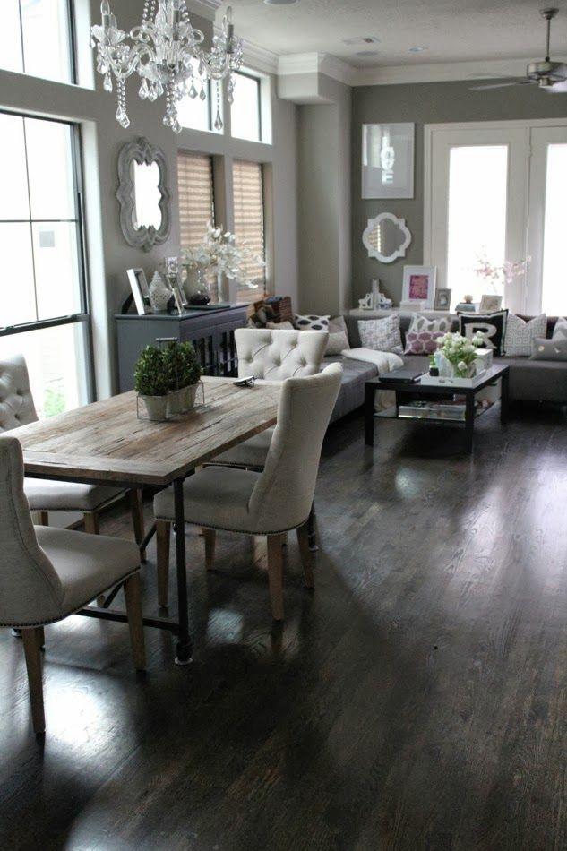 Decoraci n y de comedor y sala juntos en espacio peque o for Living room 4x4