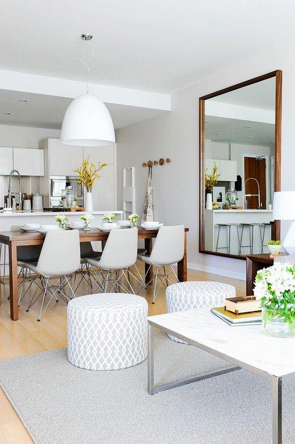 Decoracion de comedor y sala juntos en espacio pequeno 6 for Como decorar espacios pequenos sala comedor