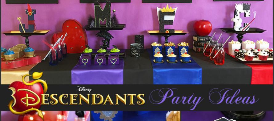Decoracion de fiesta de Descendants – Descendientes de disney