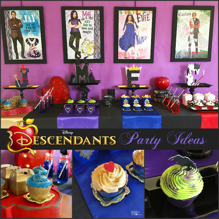 Decoraci n de fiesta de descendientes de disney fiesta for Decoracion de i