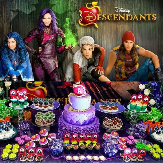 Decoración de fiesta de descendientes de Disney