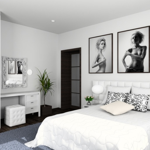 Decoracion de recamara color blanco - Dormitorios en color blanco ...