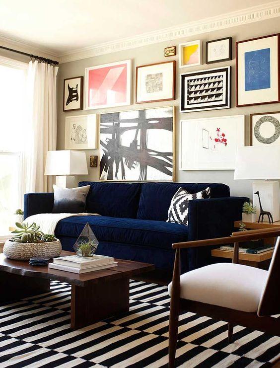 decoracion de salas azules