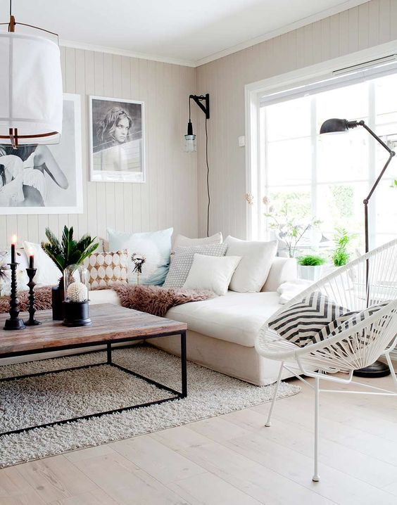 decoracion de salas color blanco