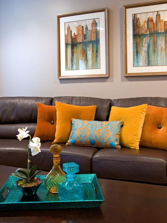 decoracion de salas color cafe chocolate
