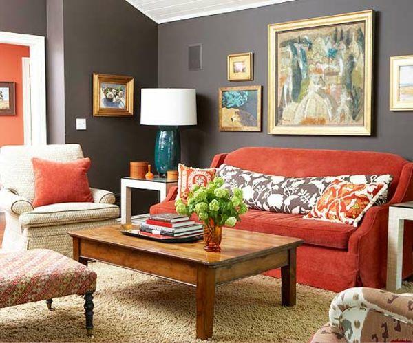 decoracion de salas color chedron