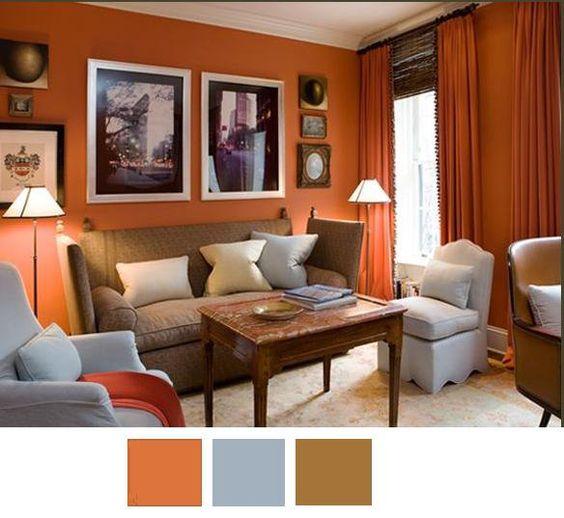 decoracion de salas color naranja (2)