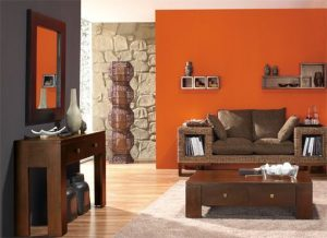 decoracion de salas color naranja